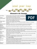 Glossaire Du Tissage