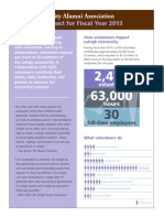 Volunteer Impact Report for Fiscal Year 2013