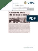 Informe de prensa semana del 13 al 20 de septiembre de 2013