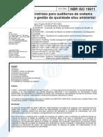 _NBR-IsO-19011 (2002) Auditoria Para Gestao Da Qualidade