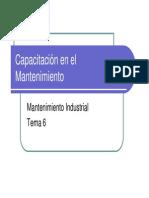 6.- Capacitación en el Mantenimiento