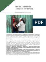 17/09/13 nssoaxaca Brigadas de los SSO atienden a municipios afectados por huracán Manuel