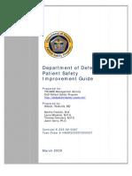 DoD Patient Safety Program Patient Safety Improvement Guide
