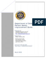 DoD Patient Safety Program Patient Safety Improvement Guide
