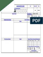 Kaizen Sheet Formate
