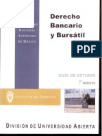 Derecho Bancario Bursatil