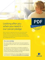 Aviva Cancer Cover Leaflet