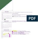Calendario Escola Colorido