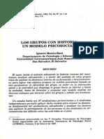 (1988h) Los Grupos Con Historia Un Modelo Psico-social