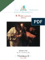 Livro de Horas - S. Tomé - Vésperas