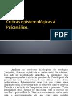 Críticas epistemológicas à Psicanálise
