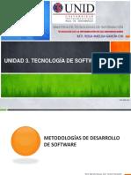 UNIDAD 3. Tecnología de software_Metodologias de Desarrollo de Software