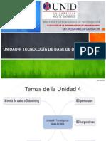 UNIDAD 4. Tecnología de BD