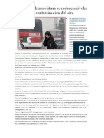 En Lima Metropolitana se reducen niveles de contaminación del aire