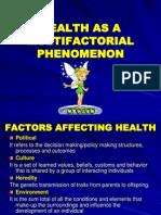 16234378 Health as a Multi Factorial Phenomenon