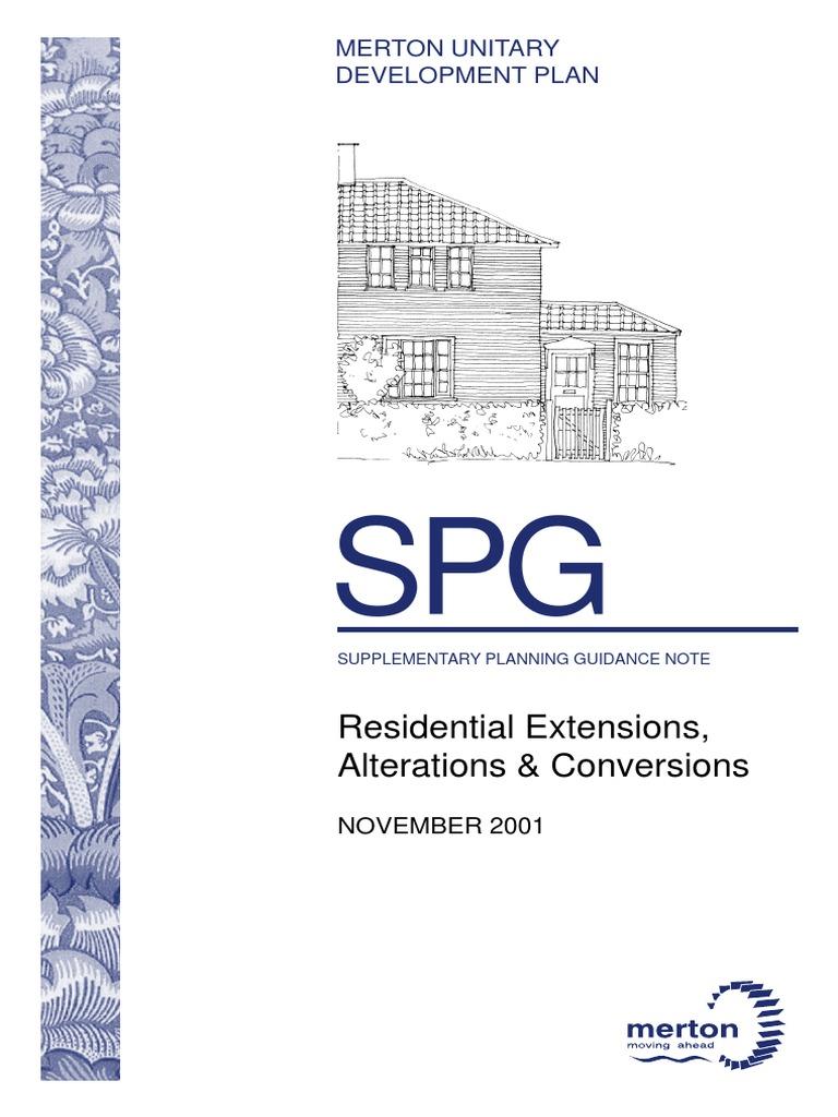 MERTON UNITARY DEVELOPMENT PLAN Residential Extensions Alterations ...