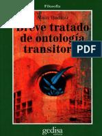 Alain Badiou - Breve Tratado de Ontologia Transitoria