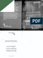 JAVO FERREIRA Comunidad, Indigenismo y Marxismo