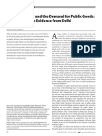 Ethnic Diversity and the Demand for Public Goods Interpreting the Evidence From Delhi