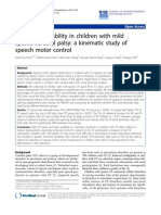 Oromotor Variability in Children With Mild Pci