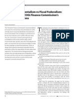 Deficit Fundamentalism vs Fiscal Federalism Implications of 13th Finance Commissions Recommendations