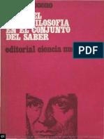 Gustavo Bueno El Papel de La Filosofia en El Conjunto Del Saber