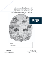 Cuaderno Mate Sexto 0 Ejercicios Mined