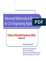 Advanced Mathematical Methods for Civil Engineering Applications