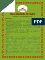 Declaracion Cumbre de Los Pueblos 2013