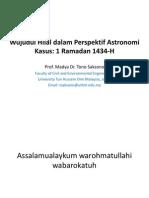 Wujudul Hilal Dalam Perspektif Astronomi - PDF Presentation