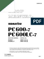 Shop Manual Pc600-7