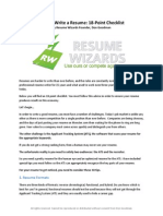How to Write a Resume 18 Point Checklist
