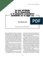Luis Marcelo Yera - La ley olvidada de la transición y el proyecto económico socialista en el siglo xxi