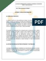 Reconocimiento Unidad 1 Estudios y Nivel de Informacion