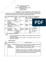 Vacancy Notice for Recruitment in Information Technology (IT) Deptt.