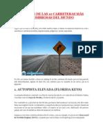 RANKING DE LAS 10 CARRETERAS MÁS ASOMBROSAS DEL MUNDO