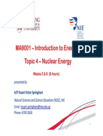 Lecture 4- Nuclear Energy