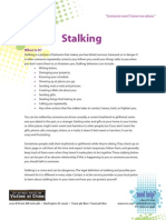 Stalking - Help for Teenage Victims of Crime