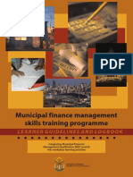 MFM Skills Training Programme Learner Guidelines and Logbook
