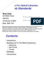 Standards for Hybrid Libraries