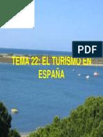 TEMA 22 - EL TURISMO EN ESPAÑA