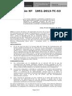 1951-2013-resolución del tribunal de contrataciones del estado