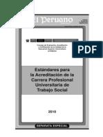 Estandares Para La Acreditacion de La Carrera Profesional Universitaria de Trabajo Social[1]