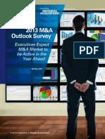 KPMG Outlook Survey MA 2013
