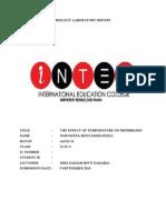 Biology Laboratory Report- Plasma Membrane