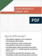 Penulisan Mengikut Format Apa (1)