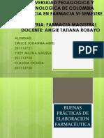 BUENAS PRÁCTICAS DE ELABORACION FARMACÉUTICA