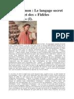 René Guénon Le langage secret de Dante et des Fidèles d'Amour