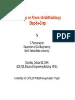 Workshop Research Methodology