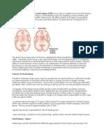 Head Injury or Traumatic Brain Injury